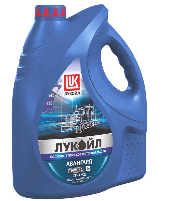 Моторное масло LUKOIL 10W-40 AVANTGARDE 5L ( Лукойл Авангард 10W40 ) полусинтетика для грузовиков TIR