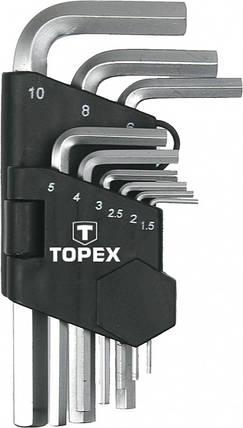 Ключи шестигранные 1.5-10 мм, набор 9 шт. (шт.) TOPEX (35D955), фото 2