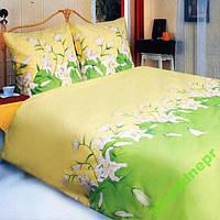 Постельный комплект ТЕП Лилия зеленая Полуторный, фото 1