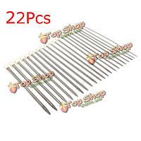 22шт нержавеющей стали одиночные остроконечные вязания крючком спицы 2.0-8.0мм