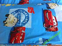 Постельный комплект детский бязь 110х145 ассортимент Тачки, фото 1