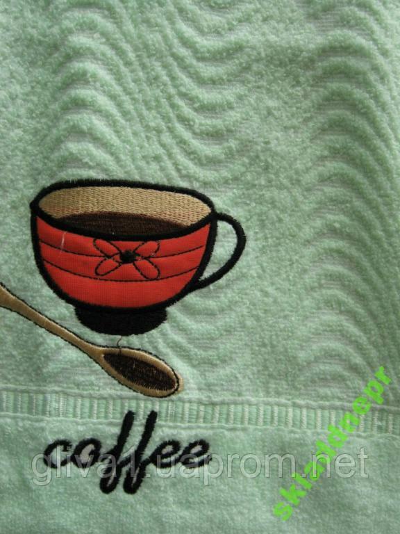Полотенце махровое хлопок лицевое Чашка кофе