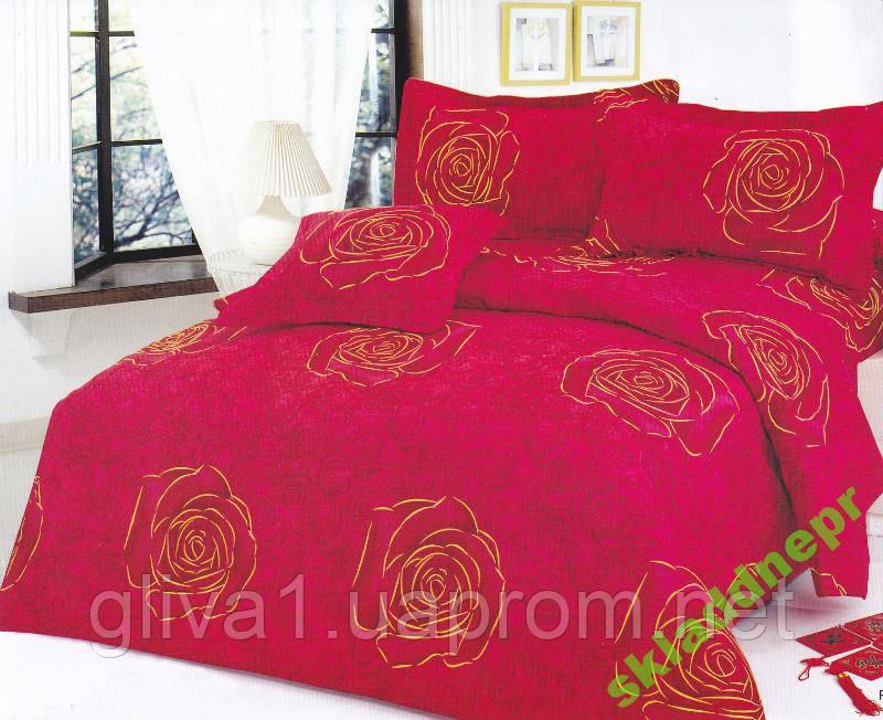 Комплект постельного белья сатин 160х220 + 4 нав.
