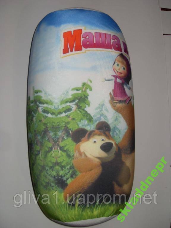 Подушка валик массажная детская Маша и Медведь