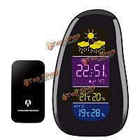 Творческий цифровой булыжник LED внутри / вне помещений метеостанция сигнализация беспроводной температуры и влажности
