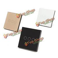 Кристалл касания 3 диммер кольцо LED стена Samrt панели переключателя белый / черный / золото