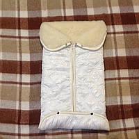 Конверт-одеяло для малыша на овчине