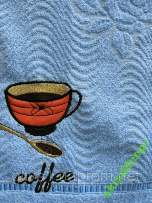 Полотенце махровое хлопок банное Чашка кофе
