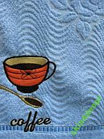 Полотенце махровое хлопок банное Чашка кофе, фото 1