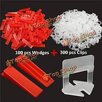 400шт плитки выравнивающие пластиковые проставки плиточные зажимы клинья инструменты