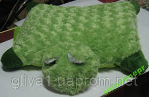Подушка мягкая игрушка на липучке Лягушка
