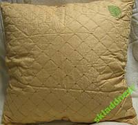 Подушка шелковая стеганная с вышивкой 70*70 Сатин