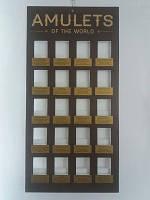 "Амулетов Мира ""Amulets of the World"" на 20 штук / Стенд для Амулетов 47x24 см"