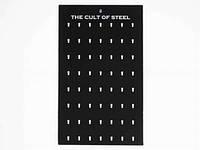 """THE CULT OF STEEL"" на 56 штук / Стенд для Кулонов 50x30 см"