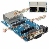 RS232 дуальный интерфейс последовательных портов LAN WAN базовый модуль UART-Wi-Fi для HLK-rm04 развития борту Wi-Fi