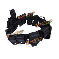Оборудование безопасности снаряжение полиции ремень Tactical 10 в 1 Многофункциональный Tactical Патруль долг пояса прихлопнуть