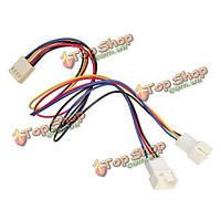 2в1 материнская плата вентилятора 25мм 4pin широтно-импульсное у формы кабель 3pin 4pin адаптер