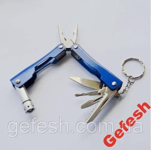 Брелок набор инструментов плоскогубцы отвертка нож