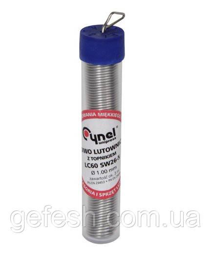 Припой Cynel 1.0 мм в колбе (16г)