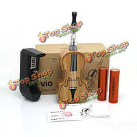 VIO Violin Style Wooden Mod Electronic Cigarette Kit 2 Colors US Plug