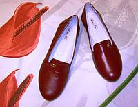 Мокасины балетки кожаные женские, фото 1