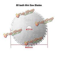 80 зубов TCT мини-пильный диск 85мм пильный диск для многофункциональным электрический мини-пила