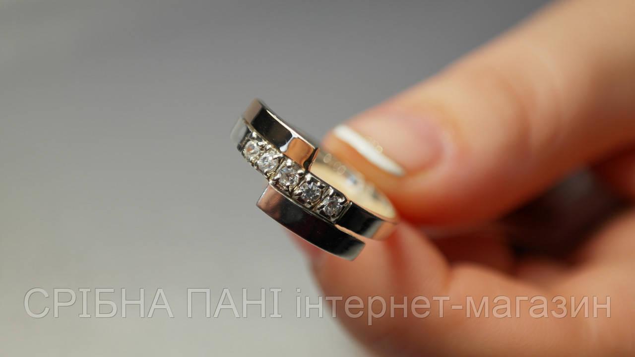 Кольцо из серебра 925 пробы с золотыми пластинами  продажа acb37d234829b