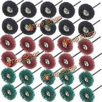 30шт 25мм диаметр абразивного круга полировка полировка колеса набор для вращающегося инструмента