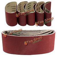 5шт 457x75мм шлифовальной ленты 60/80/100/120/240 крупнозернистых абразивных лент для полировки инструмент