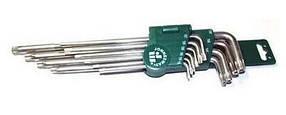 Комплект угловых ключей Torx с центрированным штифтом Extra Long Т9-Т50 JONNESWAY (H08S110S)