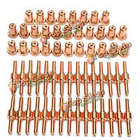 60шт расходных материалов продлен длинные наконечник электроды и сопла для pt31 lg40 40А резак плазмы воздуха