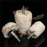 3шт полировки колесо полировка накладка шваброй комплект конической цилиндрической и грибные составные колеса