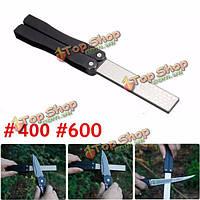 5-дюймов двухсторонний складной карманный нож алмазный заточки камень Точильный 400 & зернистостью 600