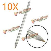 10шт 6мм диаметр хвостовика плитки резак тонкость инструмент металлический наконечник стеклянная плитка резак скрайбер резки