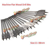 17шт 11-38мм шестигранным хвостовиком деревянные плоские сверла деревообрабатывающие сверла лопатой