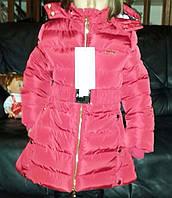Тёплая куртка на зиму для девочки фирмы Nature