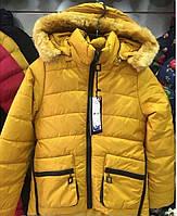 Тёплая подростковая куртка парка для мальчика (зима)