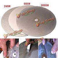 3шт 6-дюймов 240 600 3000 грит алмазный режущий диск алмазный шлифовальный с алмазным покрытием диска