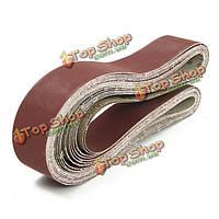 12шт 5x120см 36-400 грит Абразивные шлифовальные ленты самозатачивающимися оксидные абразивные ленты