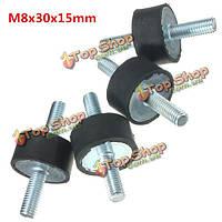 4шт М8 30мм x15мм резиновые опоры амортизатора виброизолятором опоры