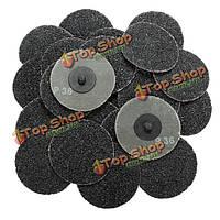 25шт 3-дюйма 36 грит типа Roloc диски R шлифования абразивные диски катиться блокировки грубой