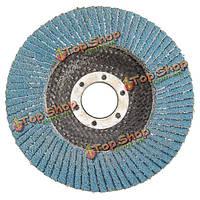 10шт 115мм 60 грит лоскут диски автошлифовальные угловой шлифовальной машины колесо с внутренним диаметром 22мм