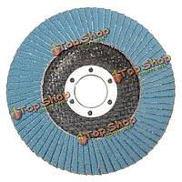 10шт 115мм 120 грит лоскут диски автошлифовальные угловой шлифовальной машины колесо с внутренним диаметром 22мм