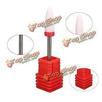Хвостовик 6 мм шлифовальной головки дюймов электрический Керамический Ногти 3/32 Дрель файл Drill немного