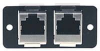 Вставка в рамку, сдвоенный блок проходных гнезд RJ-45 Kramer W4545