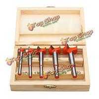 5шт форстнера наконечник сверла деревянный набор кольцевых пил легкосплавные 15-35мм
