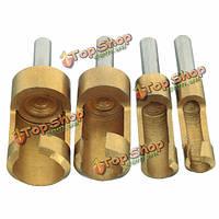 4шт резак штепселя титана установил 6-16мм деревянные расточенные отверстия прилавка резака тренировок отверстия