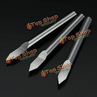 3шт 3.175мм хвостовик 45° 0.1/0.2/0.3мм из карбида гравировкабит ЧПУ инструмент для обработки металла