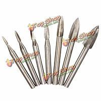 6мм хвостовик три лезвия белый стальной нож Инструмент ручной деревообрабатывающий шлифовальный резьба