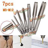 Для М12 метрики HSS резьбы крана устанавливается Метрика Метчики сверла M3 7pcs